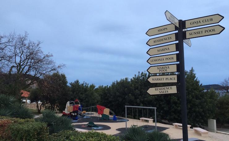 Playground, Dubrovnik Sun Gardens. Image copyright Gretta Schifano
