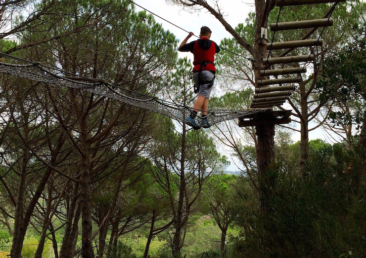 My son at Parc Aventura, Costa Brava. Copyright Gretta Schifano