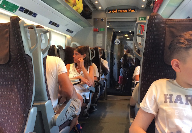 On the train from Bologna to Florence. Copyright Gretta Schifano