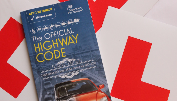 L-plates and Highway Code. Copyright Gretta Schifano