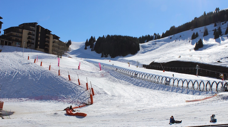 Nursery slopes at Auris-en-Oisans. Copyright Gretta Schifano