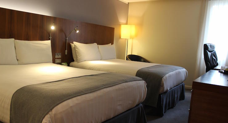 Standard double room, Holiday Inn London Camden Lock. Copyright Gretta Schifano