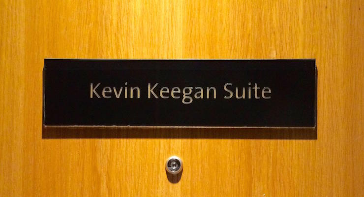 Door to Kevin Keegan Suite. Copyright Gretta Schifano