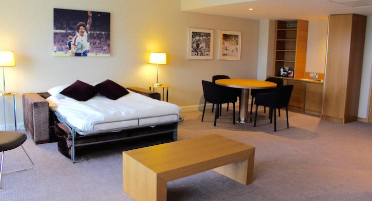 Lounge, Kevin Keegan Suite, Hilton St. George's. Copyright Gretta Schifano