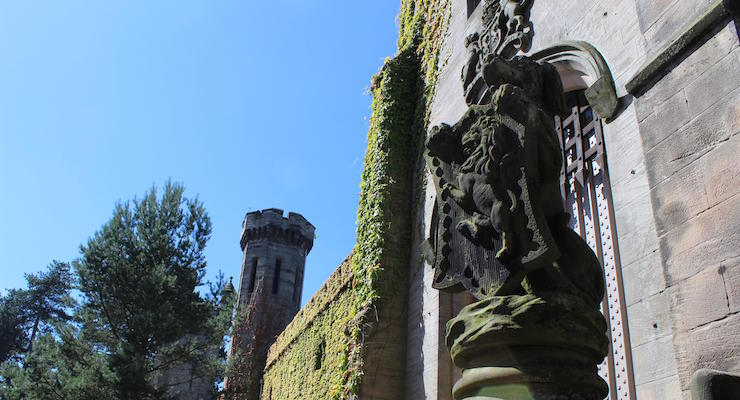 Ruined mansion, Alton Towers. Copyright Gretta Schifano