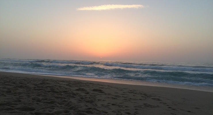 Sunset at Praia D'el Rey, Portugal. Copyright Gretta Schifano