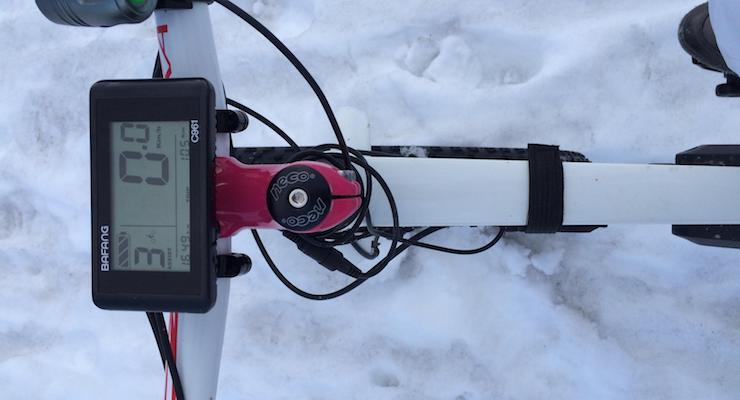 Fatbike controls. Copyright Gretta Schifano