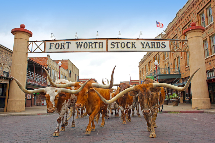 Fort Worth Stockyards. Image courtesy of Visit Fort Worth