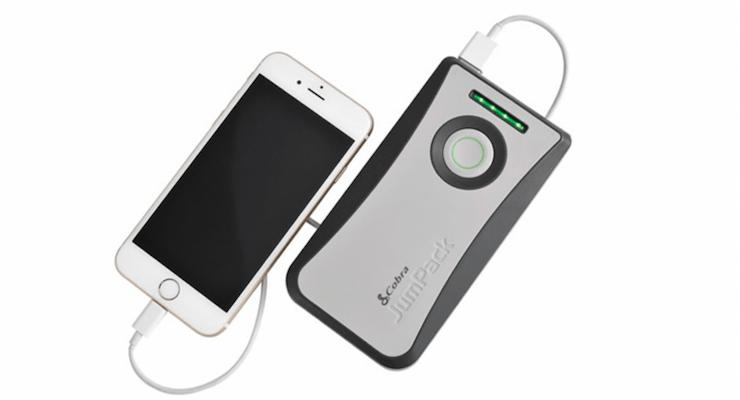 Cobra JumPack CPP8000 with iPhone