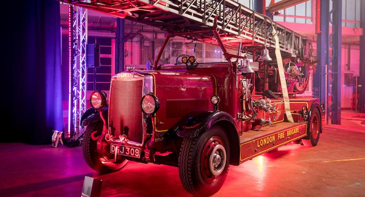 Vintage fire engine. Copyright London Fire Brigade