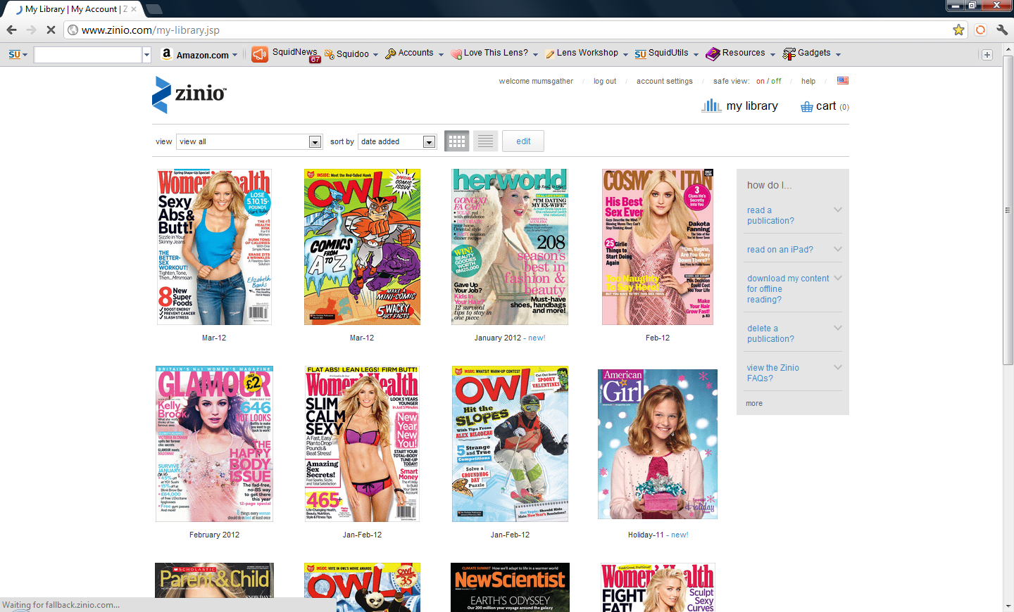 Zinio is my favorite Android App for reading magazines