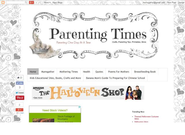 Parenting Times Screenshot (White)