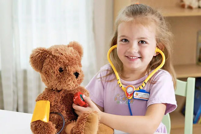 Image result for child playing doctors