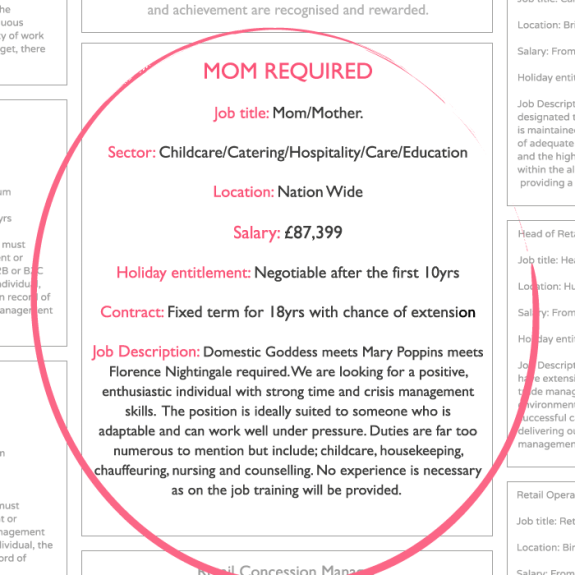 Job Advertisement for mum