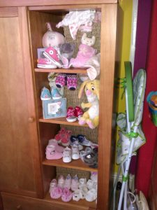 Cupboard of shoes, shoes, baby shoes