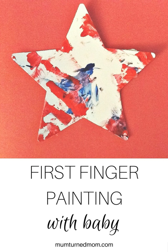 First Finger Painting with Baby