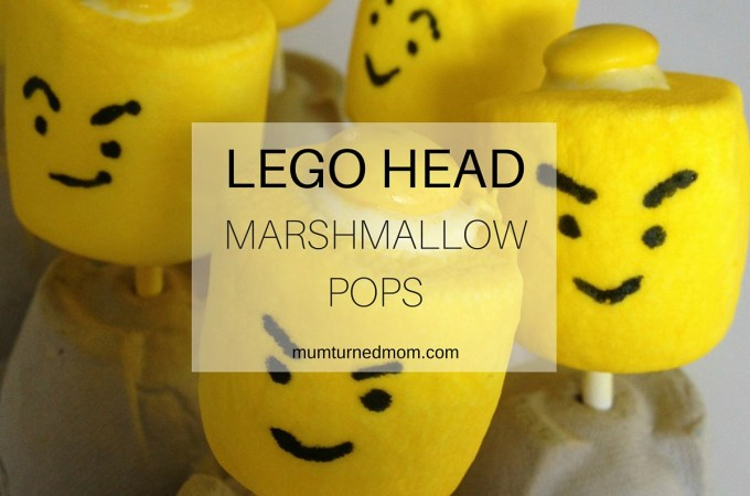 Lego Head Marshmallow Pops Tutorial: make these great kids party favors with this step by step tutorial