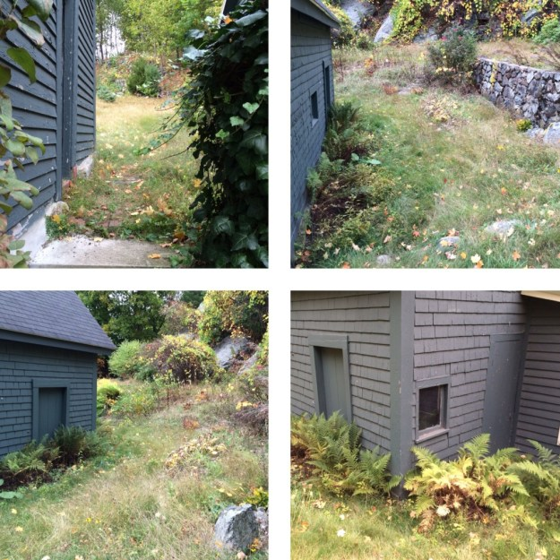 To be dug - garage and outbuilding