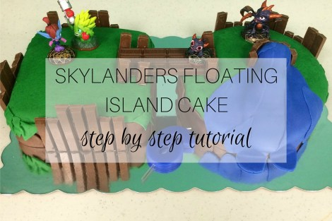 Skylanders Floating Island Cake - Featured