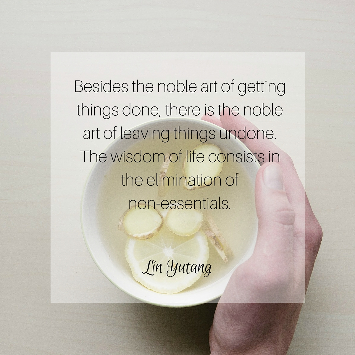 Simplify - Lin Yutang Quote