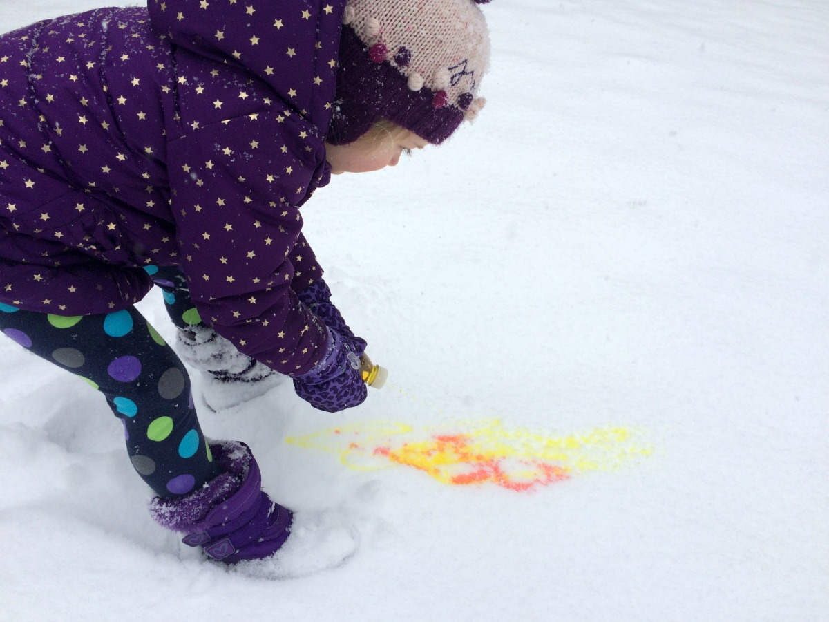 Snow Painting April 1