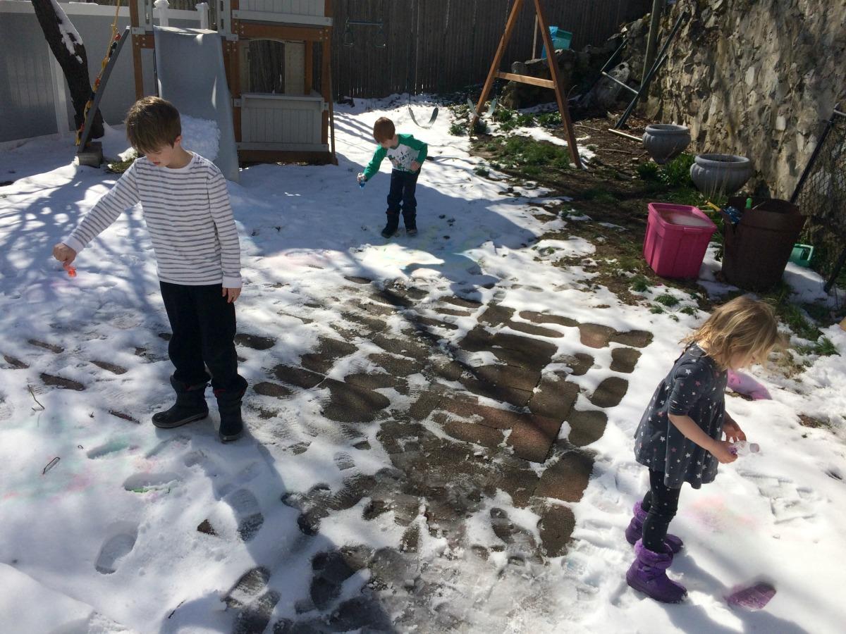 Snow Painting April 13