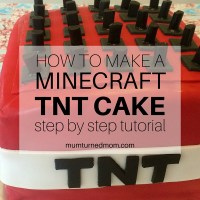 How to make a Minecraft TNT Cake