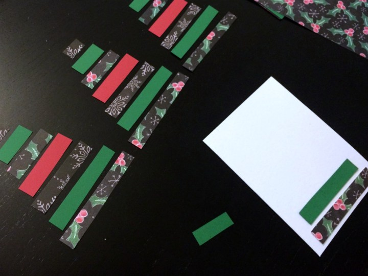 Super easy Christmas card craft project 2