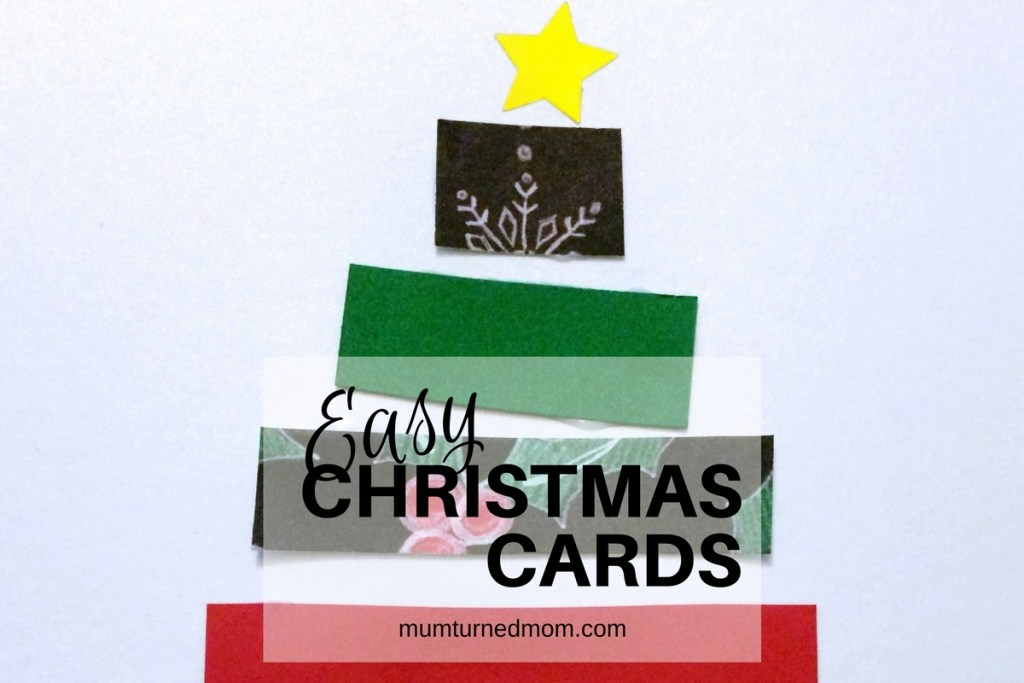 Super easy Christmas cards to make with kids, simple and effective Christmas craft project