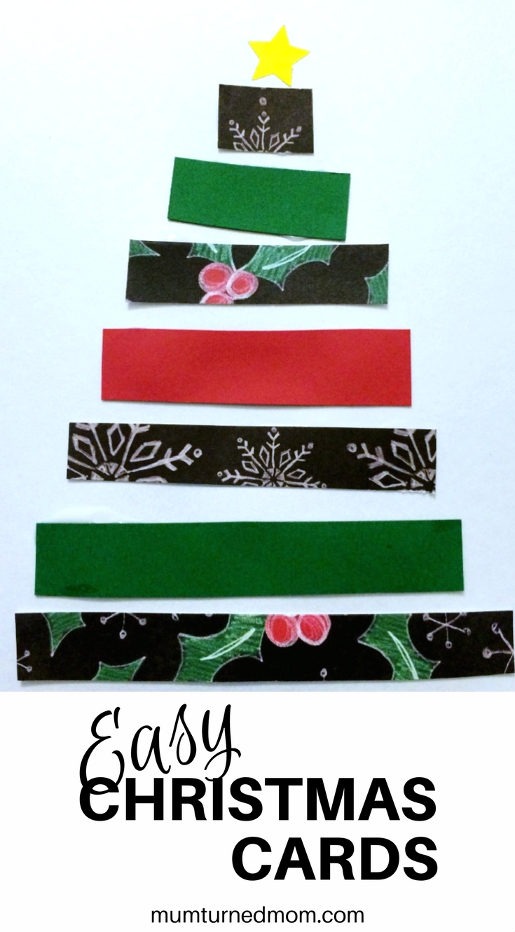 Super easy Christmas card craft project 6