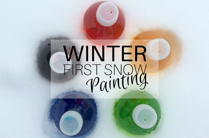 Winter - First Snow Painting