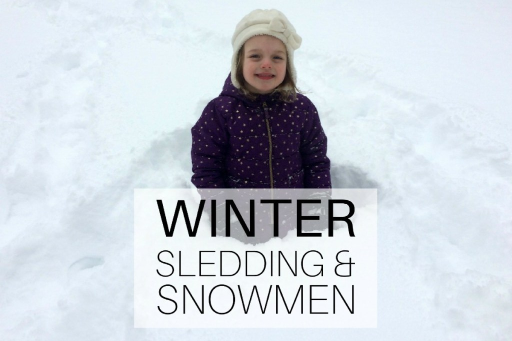 Winter - Sledding and Snowmen