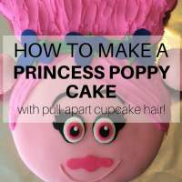How to make a Princess Poppy cake with pull-apart cupcake hair