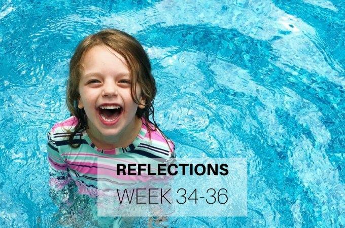 Reflections Week 34-36
