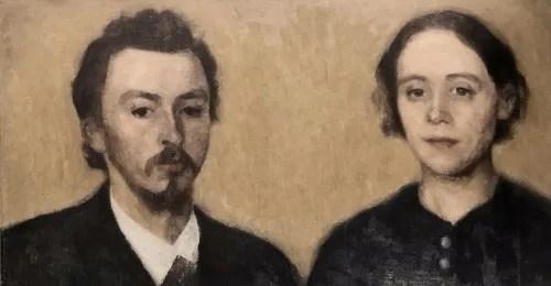 画家と妻の肖像、パリ