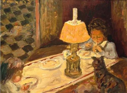 ピエール・ボナール-子どもたちの昼食