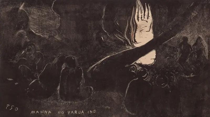 ゴーギャン-『ノア ノア』《マーナ・ノ・ヴァルア・イノ(悪霊の日)》