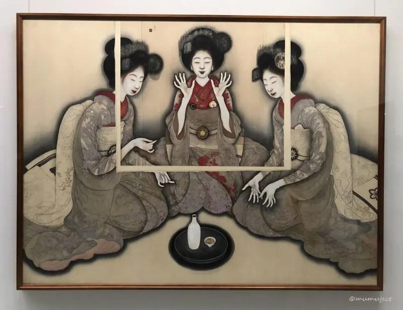 岡本神草-拳を打てる三人の舞妓の習作-あやしい絵展
