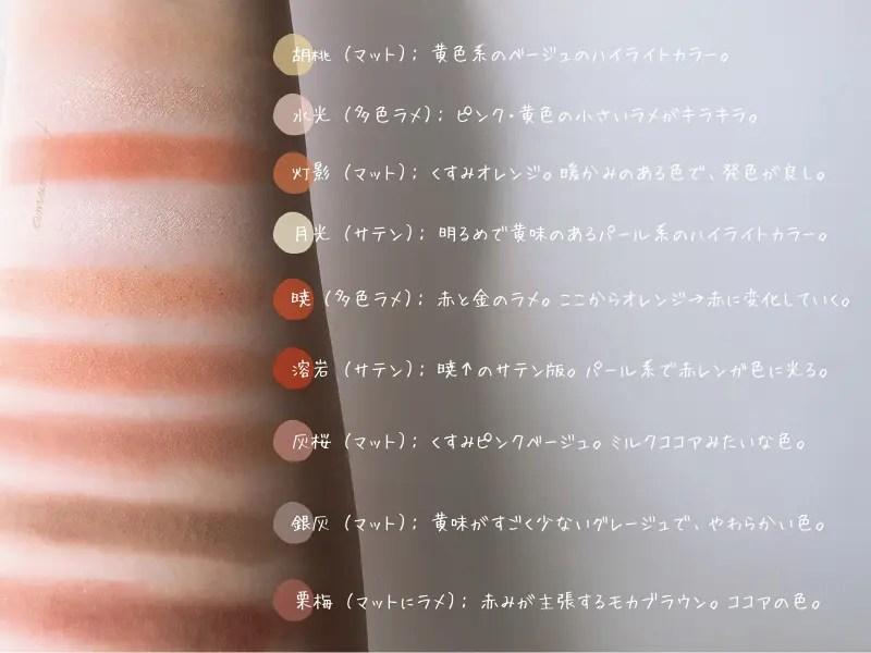 CATKIN-キャットキン-アイシャドウ-長思想-日本限定-限定-秋月-感想-レビュー-口コミ-色-スウォッチ