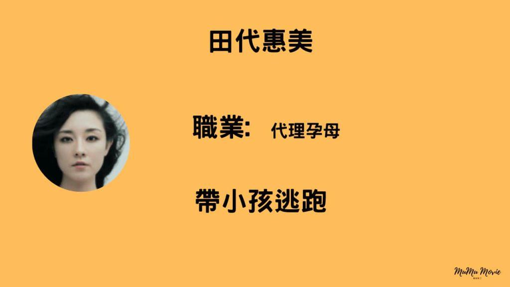 潘多拉 永遠的生命電影中田代惠美是誰?