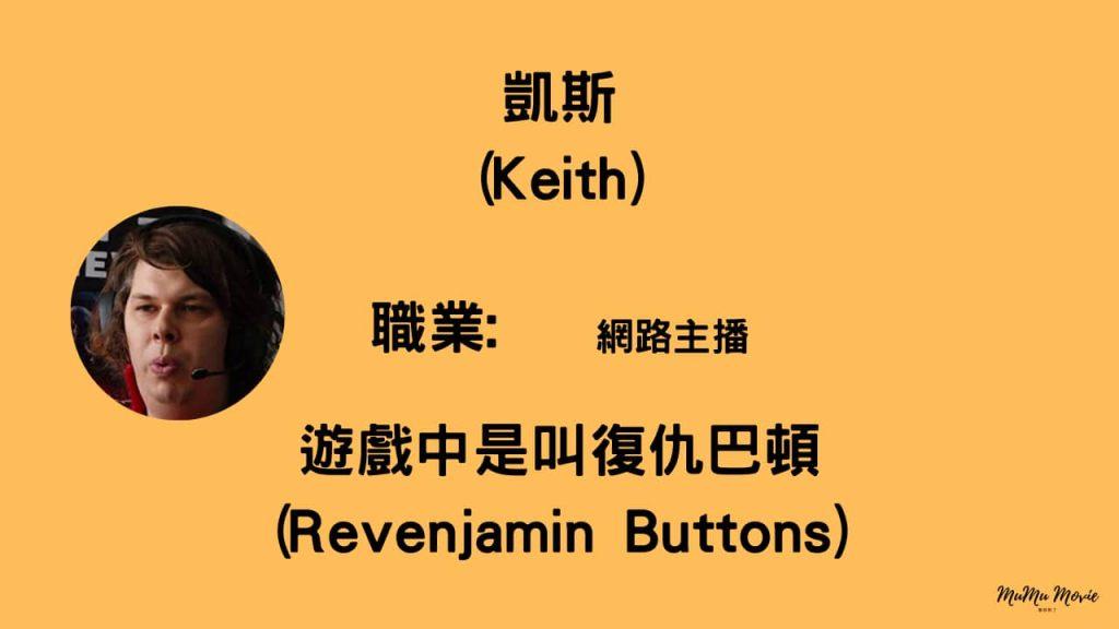脫稿玩家電影中凱斯Keith是誰?