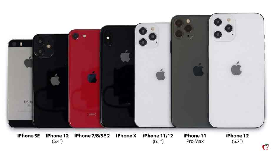 iPhone 12 Lineup Compared with iPhone 11 Pro, Pro Max, SE, X, 7/8
