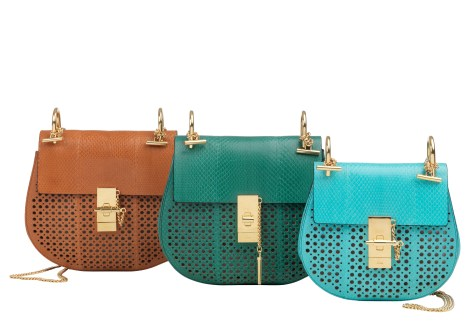 Drew Bags in Perforated Leather