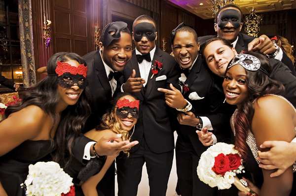 Masquerade Themed Chicago Wedding: Heaven + Michael