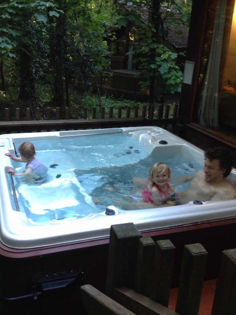 Forest holidays hot tub