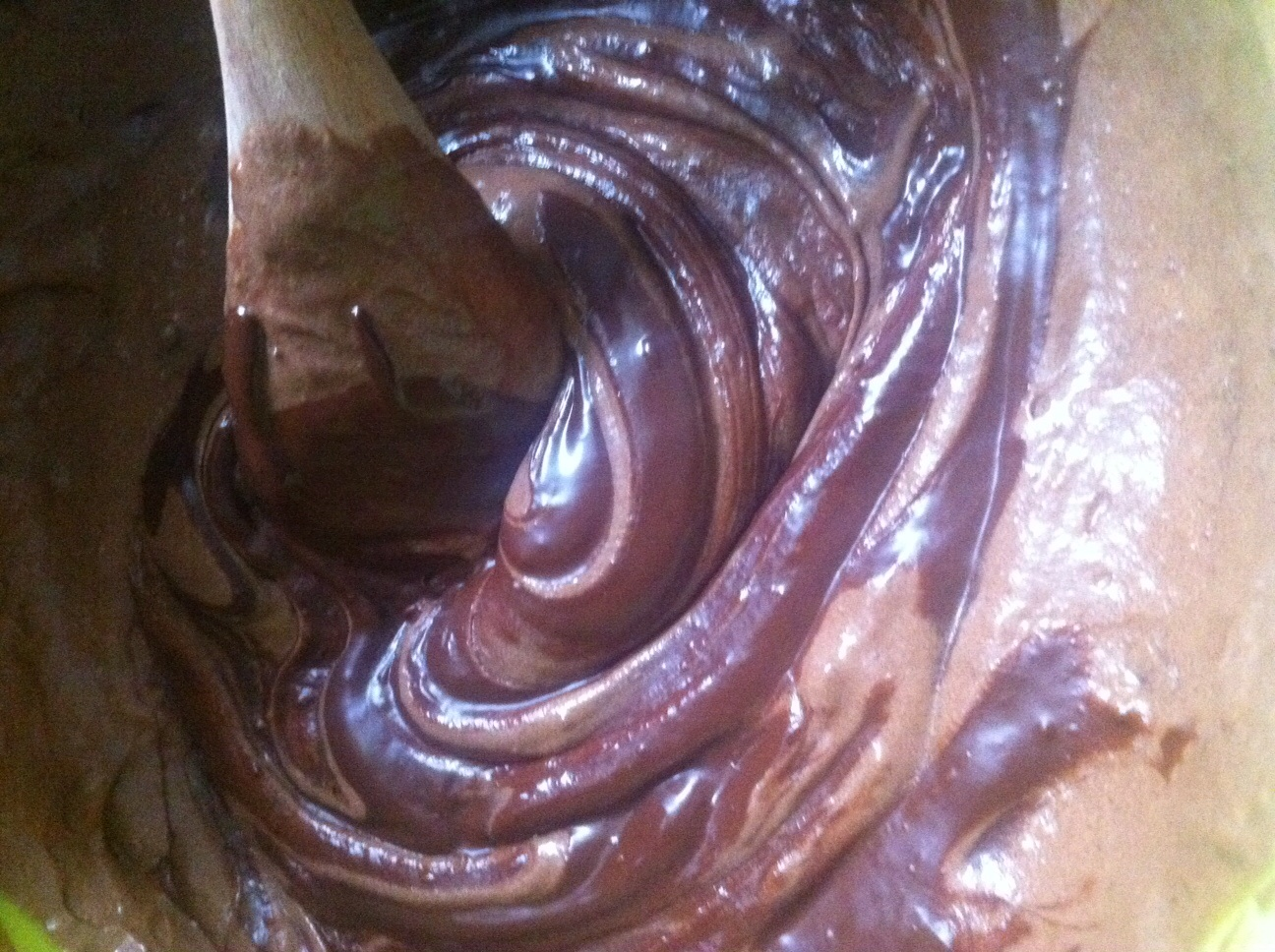 Chocolate cake batter