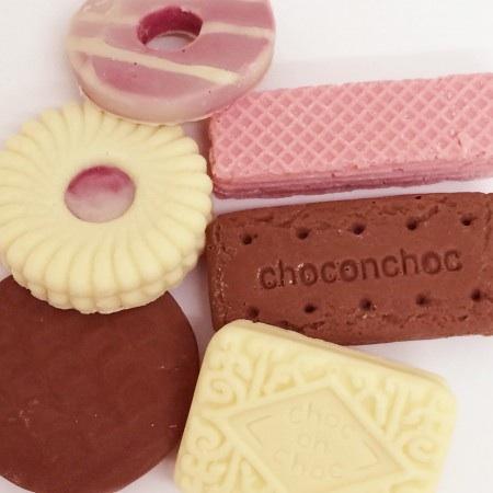 Choc on choc biscuits