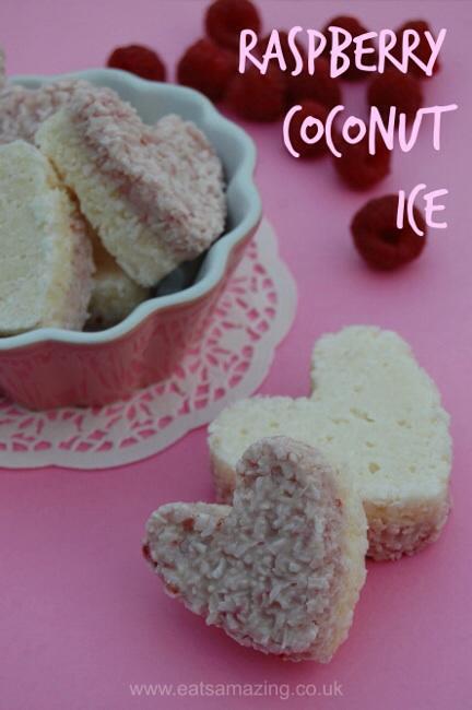 Homemade coconut ice