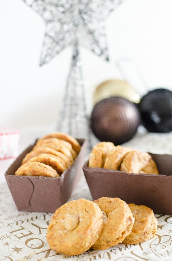 Parmesan sable biscuits