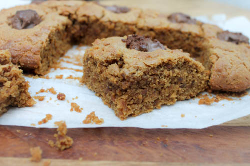 cookie butter traybake